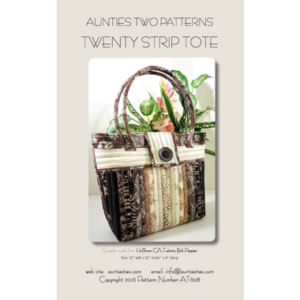 twenty strip tote bag pattern-at608