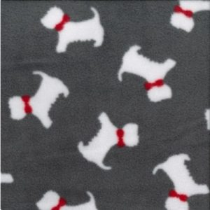 Scottie Dog Polar Fleece-grey