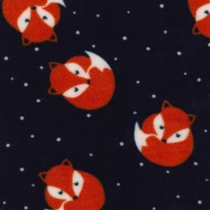 Sleepy Fox Polar Fleece-Navy
