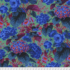 Rose & Hydrangea PWPJ097.blue