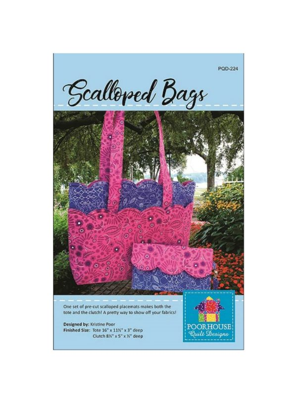 Scalloped Bags Pattern PQD-224