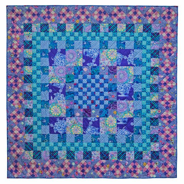 Blue Square Dance, Quilts in the Cotswolds