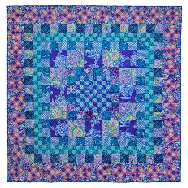 Blue Square Dance Fabric