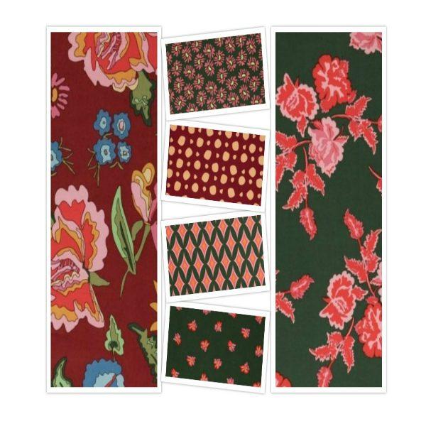 Nordic Garden Dream Red Colourway