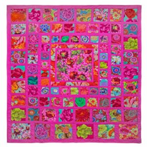Pink Squares, Quilts in the Cotswolds