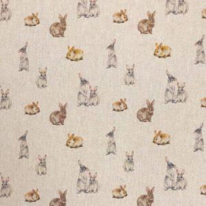 Bunny Rabbits Popart Linen