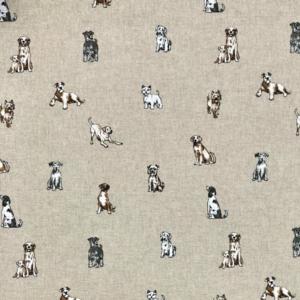 Popart Linen Shabby Dogs