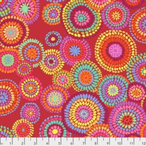 Mosaic Circles PWGP176.Red 2020