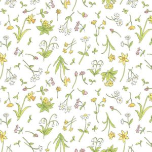 White Spring Flowers Y2873-01