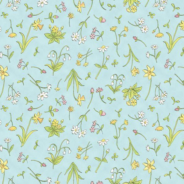 Aqua Spring Flowers Y2873-32