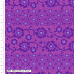Makoti Purple Flower Border 2620-05