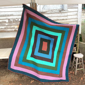 Shot Striped Frames Quilt