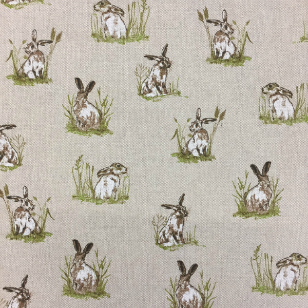 Popart Linen Hares