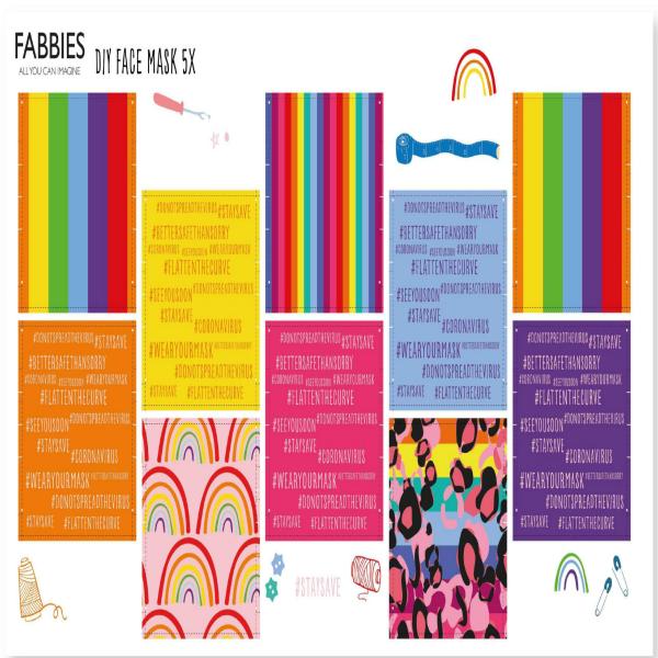 Face Mask Kit Rainbowsquare-5X