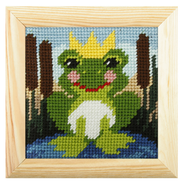Embroidery Kit Mini Frog-OCR.6701
