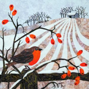 Applique Robin and Rosehips Kit