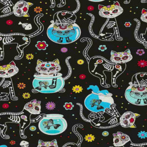 Cat Skeletons Cat-C4159-Black