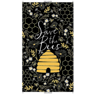 Save the Bees Panel-C8121-Black