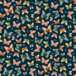 Makower Michiko Butterflies 2334.B