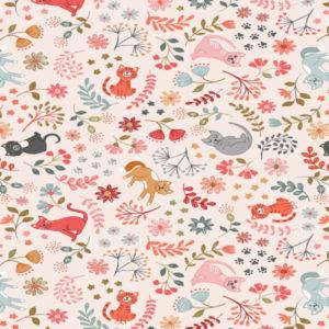 Purrfect Petals A471.1-Floral Cats