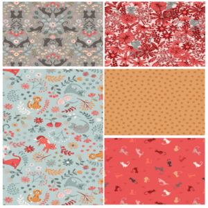 Purrfect Petals Fat Quarter-Bundle Two