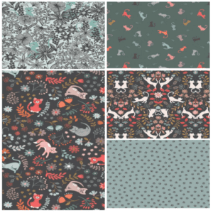Purrfect Petals Fat Quarter-Bundle Three