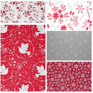 Christmas Dove Red 2477-00