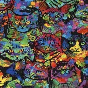 Paint Splatter Cats C4140.Cat