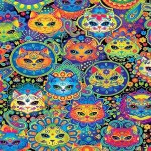 Bright Cat Sugar Skulls C7817.Cat