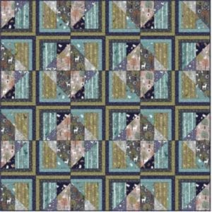Nighttime in Blubebell Wood Quilt PDF