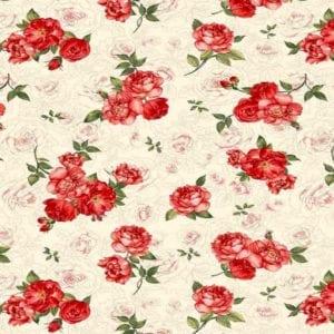 Small Red Rose Bouquet Fleur-C7974-Cream