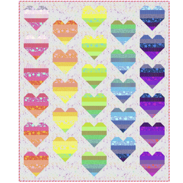 Floating Hearts Quilt Project