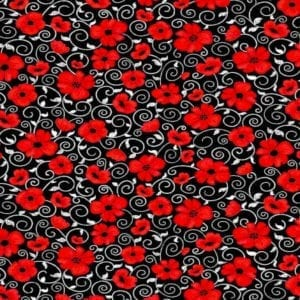 Poppy Twirls Gail-C7742 Black