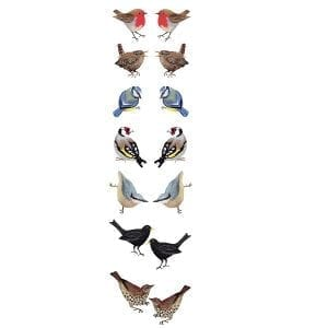 Birds fabric panel