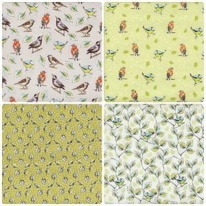 Garden Birds Fat Quarter Pack 1
