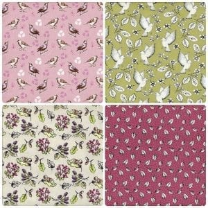 Garden Birds Fat Quarter Pack 2