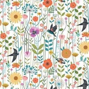 Meadow Birds White AVAI1722