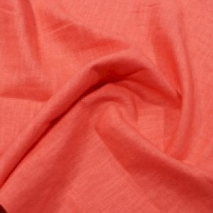 Enzyme Washed Linen Coral