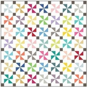 Spotty Pinwheels Quilt Image