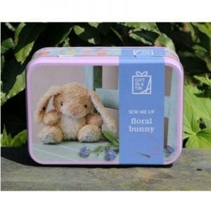 floral bunny Gift in a tin