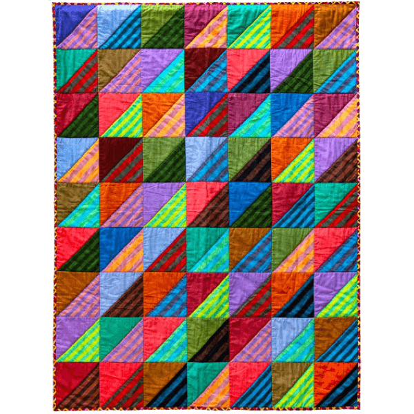 Shaded Squares Quilts in an English Village