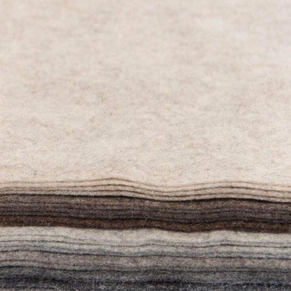 100% Wool - Marl Felt Squares