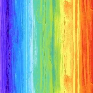 Rainbow Watercolour Stripe C7944-Stripe