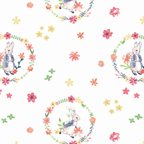 2727-02 Floral Wreath Peter Rabbit