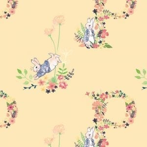Peter Rabbit Floral Letter