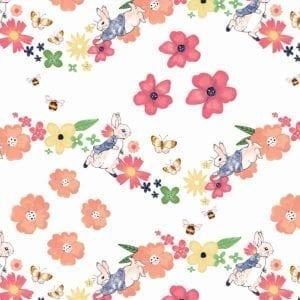 Large Florals Peter Rabbit