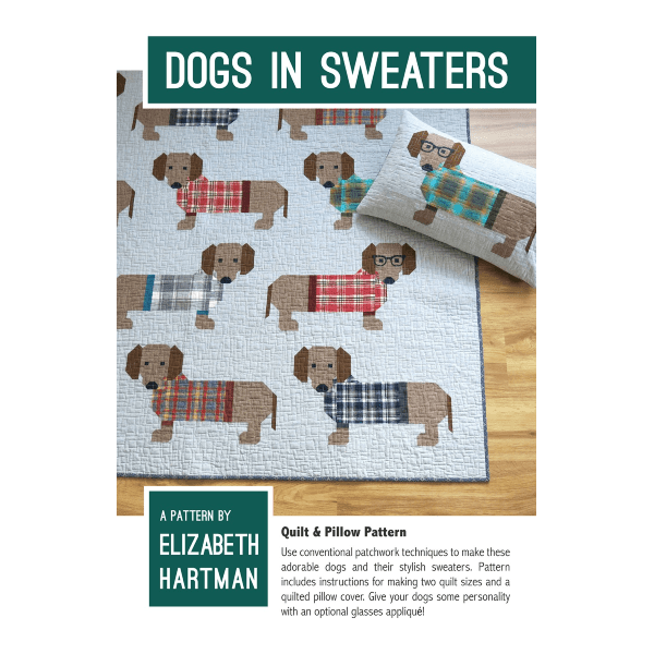 Quilt Pattern Dogs in Sweaters