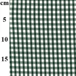 Bottle Green Poly/Cotton Gingham