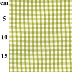 Lime Poly/Cotton Gingham