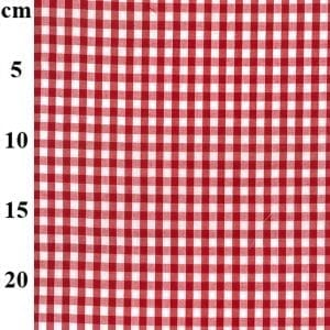 Red Poly/Cotton Gingham